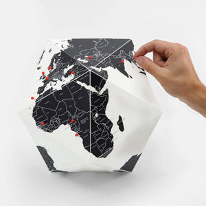 Here by Countries Globe Map