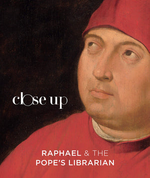 "Book Cover of ""The Pope's Librarian"" Painting of Tommaso Inghirami by Raphael"
