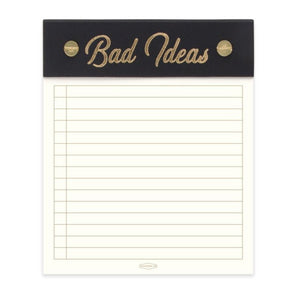 """Bad Ideas"" Post-Bound Notepad"