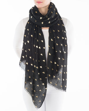 Bee's Knees Black Scarf