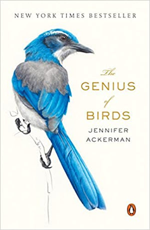 Book cover with a realistic picture of a blue bird