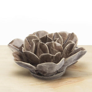 Grey Lotus Ceramic Flower