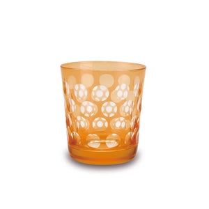 Orange Melrose Rocks Glass