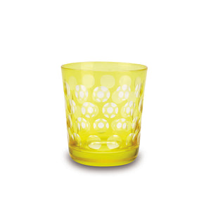 Yellow Melrose Rocks Glass
