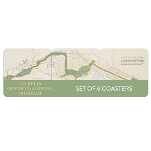 Muddy River Map Coasters