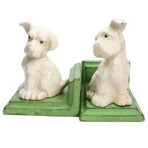 White Puppy Bookends