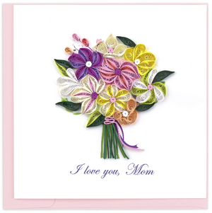 Mother's Day Bouquet Quilling Card