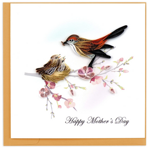Mother's Day Birds Quilling Card