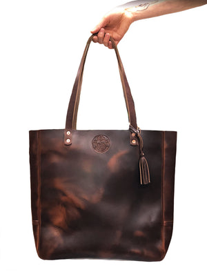 Todder x ISGM: Gardner Crest Leather Tote