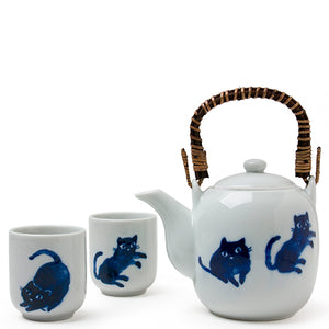 Blue Cats Tea Set