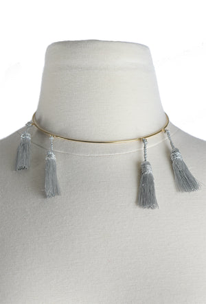 Laura Anderson Barbata: Choker Necklace with Tassels