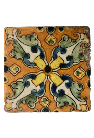 Colorful Quatrefoil Mexican Coaster