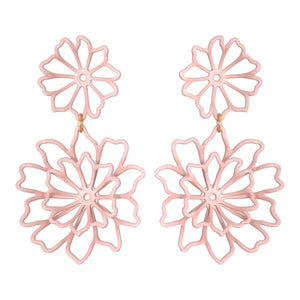 Blush Dahlia Earrings