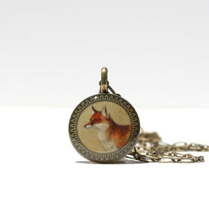 Resin Fox Necklace