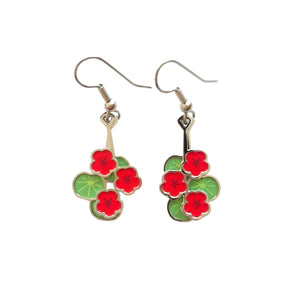 Hanging Nasturtium Earrings