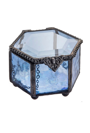 Pale Blue Hexagon Box