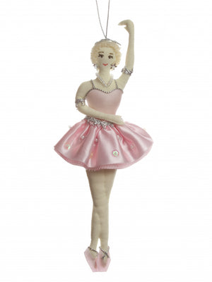 Blonde Ballerina in Pink Tutu Ornament
