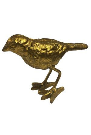 Cast Iron Gold Bird Statue