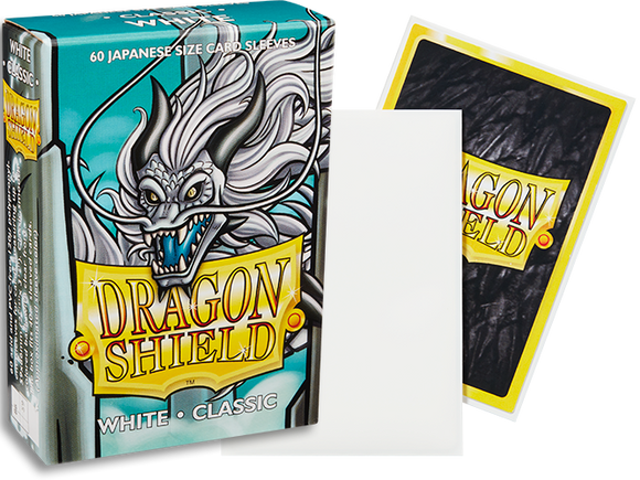Dragon Shield White Classic Japanese Size (60ct)