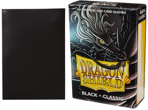 Dragon Shield Black Classic Japanese Size (60ct)