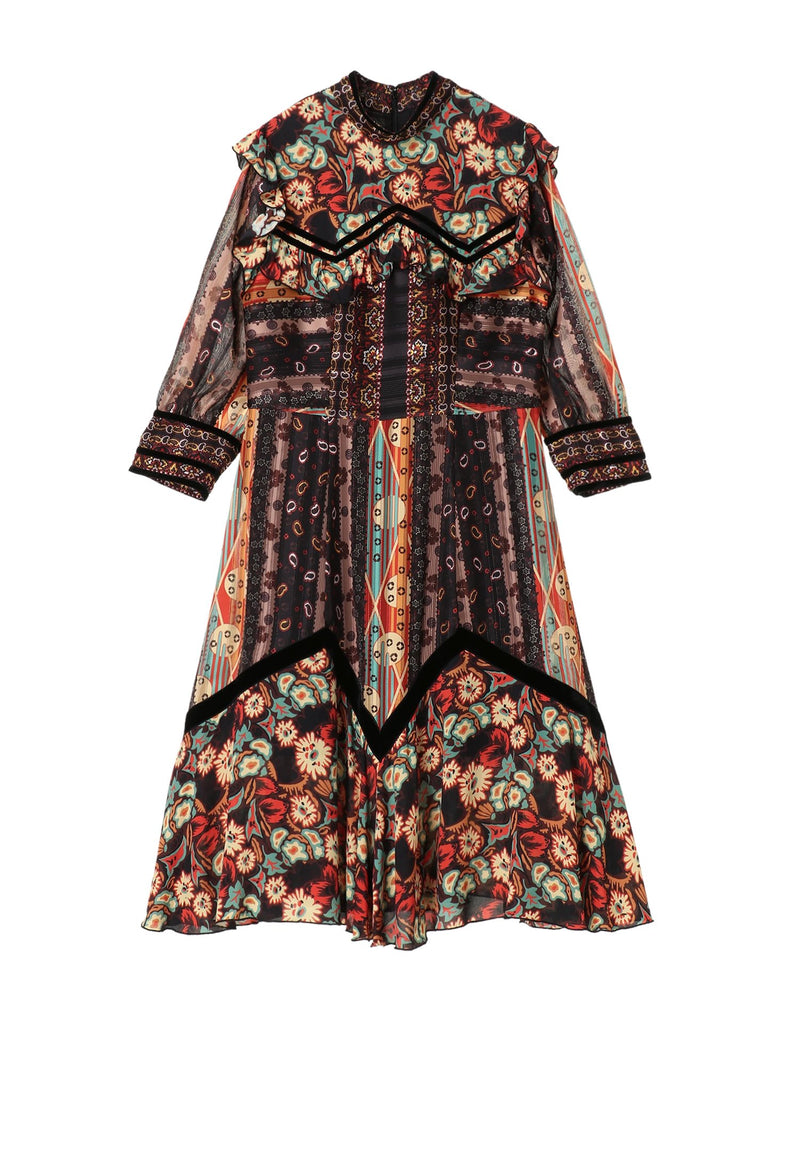 Paisley Border Dress