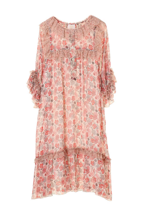 Flowers In the Field Babydoll Dress