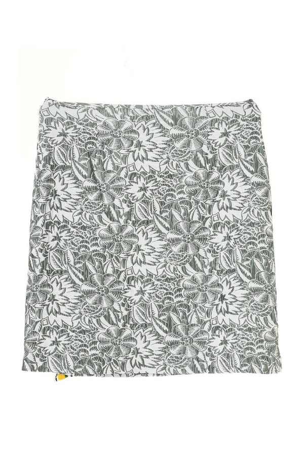Jungle Gardenia Jacquard Skirt