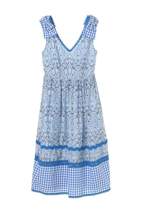 Dotted Paisley Gingham Dress