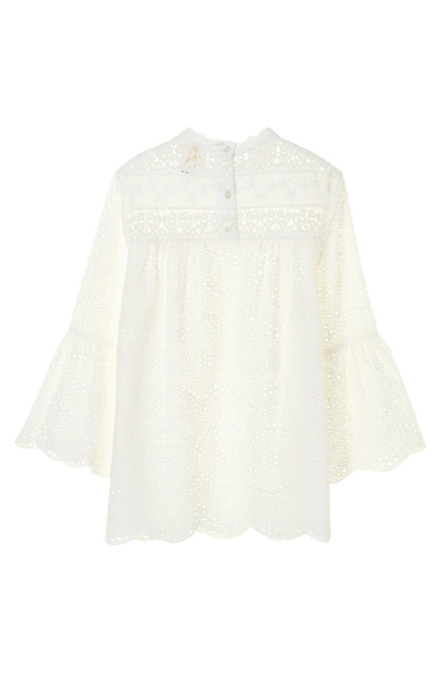 Eyelet Collage Top