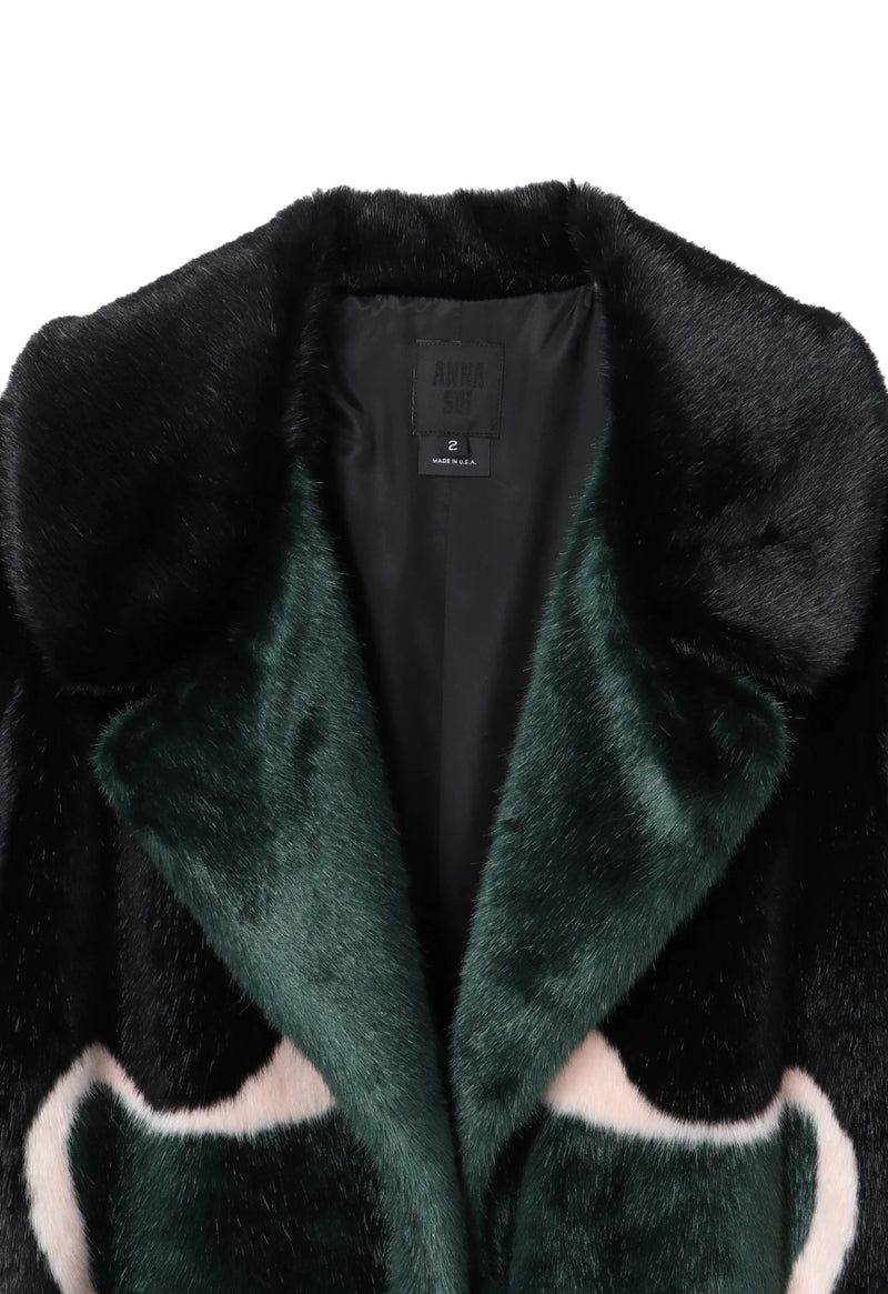 Faux fur poppy road long coat