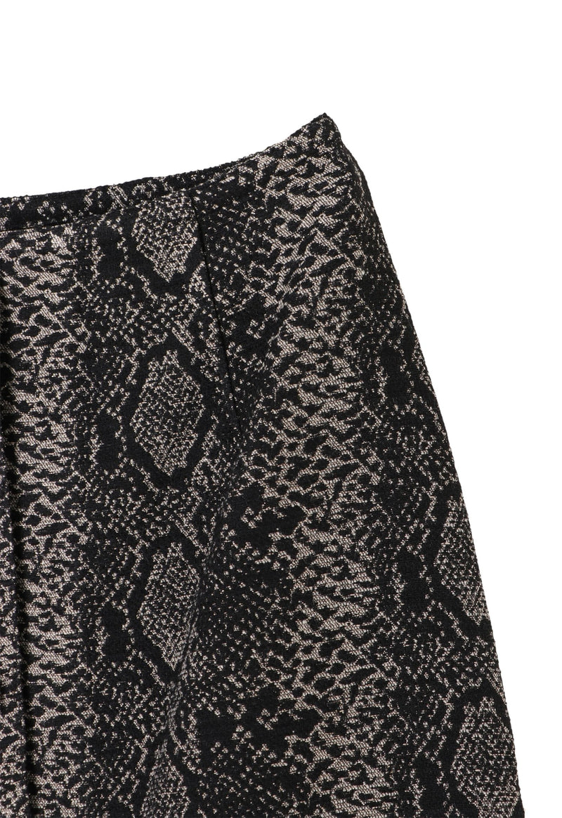 Serpent's shimmer long  skirt
