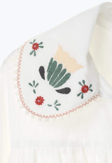 POPPIES EMBROIDERED TUNIC