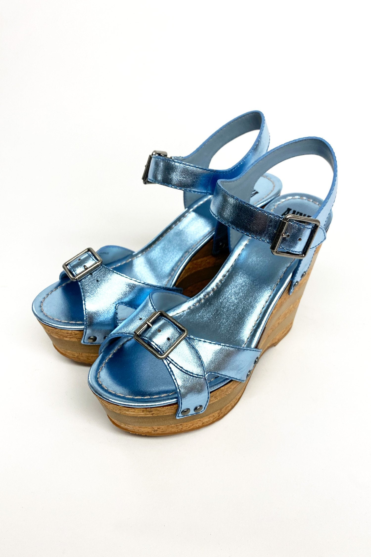 Karlie Wedge BlueLeather