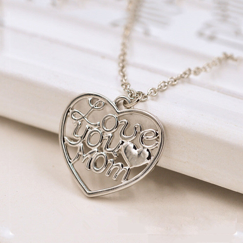 Women's Love You Mom Of Design Of Necklace