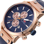 MINI FOCUS Brand Luxury Chronograph Rose Gold Men's Quartz Military Sport Watches