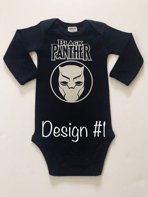 Black Panther Inspired Onesies