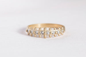 naida ring with white sapphires