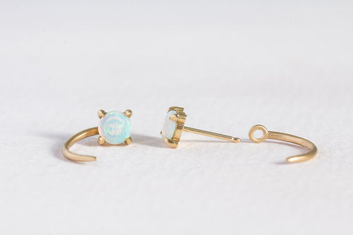 prong set opal claw studs