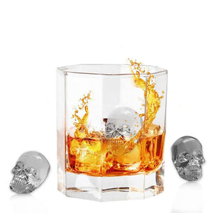 Cool 3D Skull Flexible Silicone Ice Cube Mold Tray - Fashion Paradigma