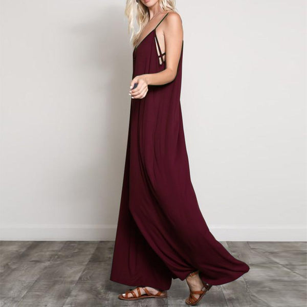 Wide Leg and Spaghetti Straps Jumpsuit