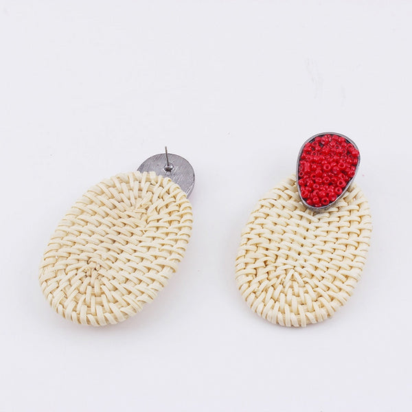 Handmade  Weave Rattan Earrings
