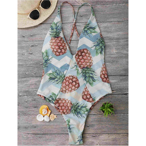 Festive Pineapple Tropical Swimsuit