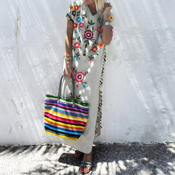Floral Printed Summer Bohemian Dress