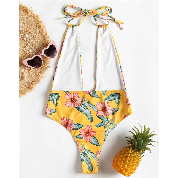 One Piece Tropical  Swimwear