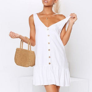 Lace-up Sleeveless Summer Dress
