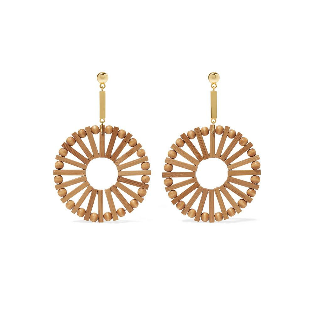 Wooden Big Circle Statement   Earrings