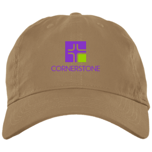 Icon with Cornerstone only Test BX001 Brushed Twill Unstructured Dad Cap