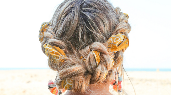 How to Wear Hair Scarves… the double dutch french braid