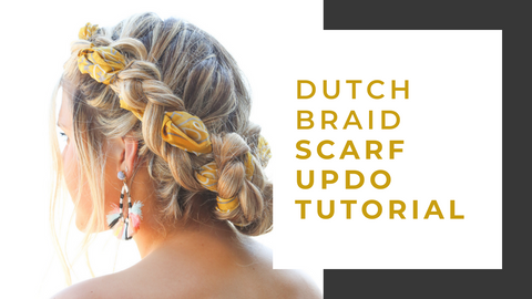 How to create double dutch braid hair scarf updo styles for weddings or formals