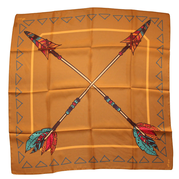 Golden Arrows Mustard Wild Rag